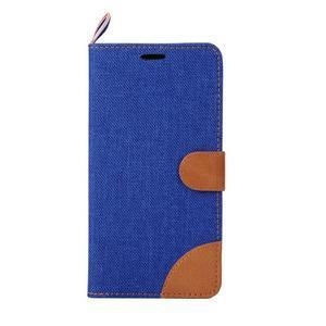 Modré peněženkové PU kožené pouzdro pro Asus Zenfone 2 ZE551ML - 2
