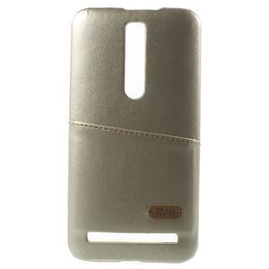 Champagne PU kožený/plastový kryt na Asus Zenfone 2 ZE551ML - 2