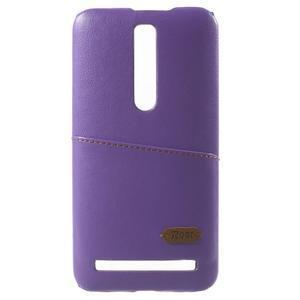 Fialový PU kožený/plastový kryt na Asus Zenfone 2 ZE551ML - 2