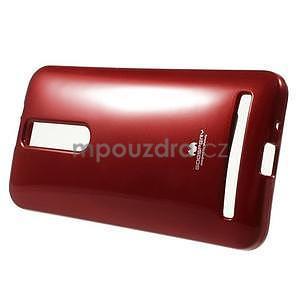 Gelový obal na Asus Zenfone 2 ZE551ML -  tmavě červený - 2