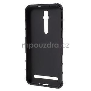 Vysoce odolný gelový kryt se stojánkem pro Asus Zenfone 2 ZE551ML - černý - 2