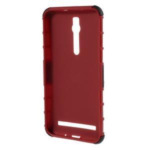 Vysoce odolný gelový kryt se stojánkem pro Asus Zenefone 2 ZE551ML - červený - 2