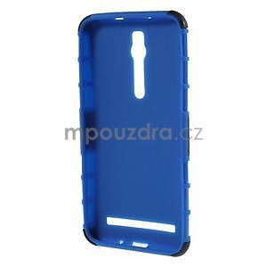 Vysoce odolný gelový kryt se stojánkem pro Asus Zenefone 2 ZE551ML - modrý - 2