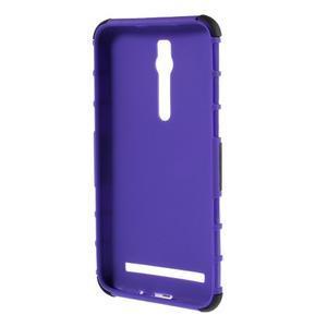 Vysoce odolný gelový kryt se stojánkem pro Asus Zenefone 2 ZE551ML - fialový - 2
