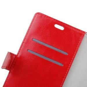 Stay PU kožené pouzdro na mobil HTC Desire 12 - červené - 2