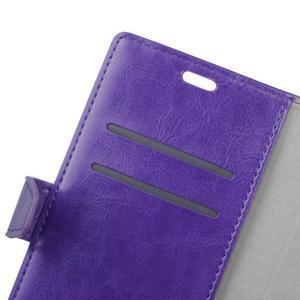Stay PU kožené pouzdro na mobil HTC Desire 12 - fialové - 2
