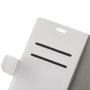 Stay PU kožené pouzdro na mobil HTC Desire 12 - bílé - 2