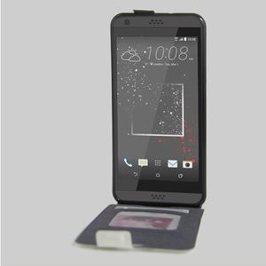 Flipové PU kožené pouzdro na HTC Desire 630 a Desire 530 - bílé - 2
