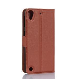 Wally PU kožené pouzdro na mobil HTC Desire 530 a Desire 630 - hnědé - 2