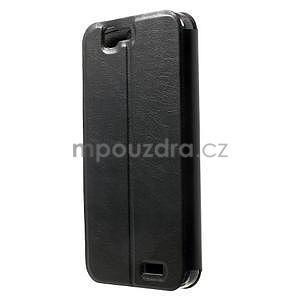 Klopové pouzdro na Huawei Ascend G7 - černé - 2