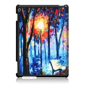 Emotive polohovatelné pouzdro na Huawei MediaPad M3 Lite 10 - malovaný les - 2