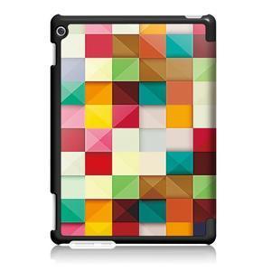 Emotive polohovatelné pouzdro na Huawei MediaPad M3 Lite 10 - barevné čtverečky - 2