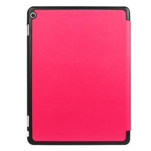 Trifold polohovatelné PU kožené pouzdro na Huawei MediaPad M3 Lite 10 - rose - 2