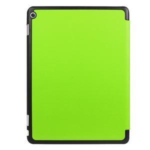 Trifold polohovatelné PU kožené pouzdro na Huawei MediaPad M3 Lite 10 - zelené - 2