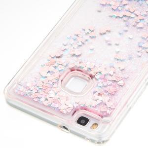 Magic přesýpací gelový obal na Huawei P9 Lite - růžový - 2