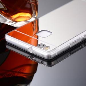 Zrcadlový gelový obal na Huawei P9 Lite - rosegold - 2