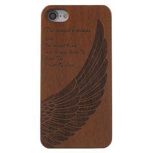 Woody dřevěný obal s plastovým držením na iPhone 7 a iPhone 8 - andělské  křídlo - 1db2b894520