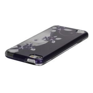 Safety plastové pouzdro 2v1 na iPod Touch 5 - fialové květy - 2