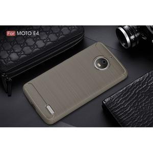 Carbon odolný obal pro Lenovo Moto E4 - šedý - 2