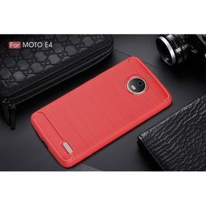 Carbon odolný obal pro Lenovo Moto E4 - červený - 2