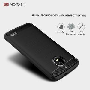 Carbon odolný obal pro Lenovo Moto E4 - černý - 2