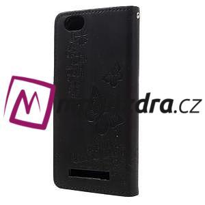 Butterfly knížkové pouzdro na mobil Lenovo Vibe C A2020 - černé - 2