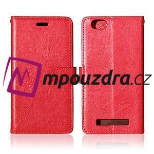 Fashion PU kožené pouzdro na mobil Lenovo Vibe C A2020 - červené - 2