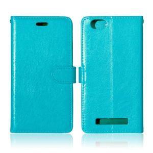 Fashion PU kožené pouzdro na mobil Lenovo Vibe C A2020 - modré - 2