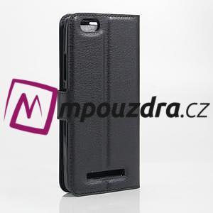 Grain peněženkové pouzdro na mobil Lenovo Vibe C A2020 - černé - 2