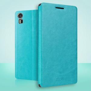 Safety koženkové pouzdro na Lenovo Vibe Shot - modré - 2