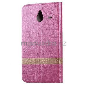Růžové klopové pouzdro pro Microsot Lumia 640 XL - 2