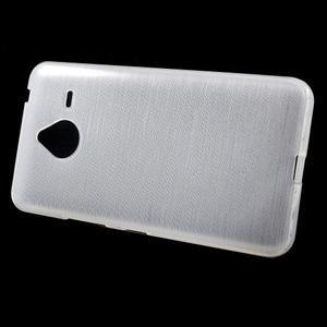 Gelový kryt s broušeným vzorem Microsoft Lumia 640 XL - bílý - 2