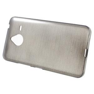 Gelový kryt s broušeným vzorem Microsoft Lumia 640 XL - šedý - 2