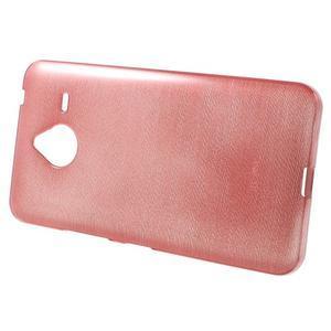 Gelový kryt s broušeným vzorem Microsoft Lumia 640 XL - růžový - 2