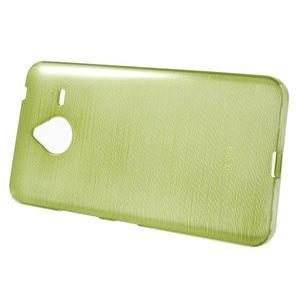 Gelový kryt s broušeným vzorem Microsoft Lumia 640 XL - zelený - 2