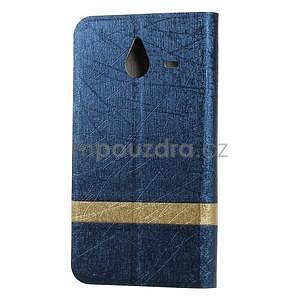 Tmavě modré klopové pouzdro pro Microsot Lumia 640 XL - 2