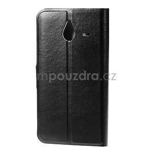 Peněženkové PU kožené pouzdro na Microsoft Lumia 640 XL - černé - 2