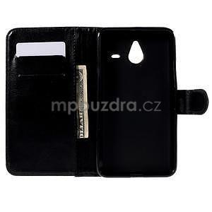PU kožené pouzdro na Micosoft Lumia 640 XL - černé - 2