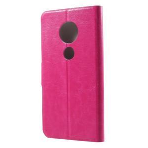 Horse PU kožené pouzdro na mobil Motorola Moto G6 Play - rose - 2
