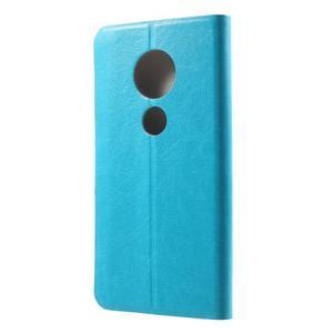 Horse PU kožené pouzdro na mobil Motorola Moto G6 Play - modré - 2