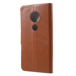 Horse PU kožené pouzdro na mobil Motorola Moto G6 Play - hnědé - 2