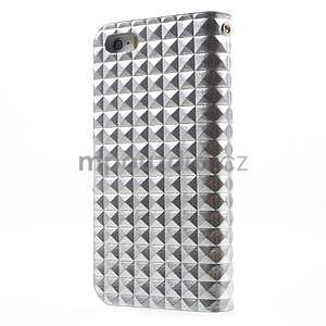 Cool Style pouzdro na iPhone 5 a iPhone 5s - stříbrné - 2