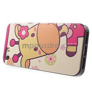 Gelové pouzdro na iPhone 5 a 5s - kravička - 2