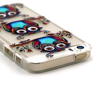 Fun gelový obal na iPhone 5s a iPhone 5 - sova - 2