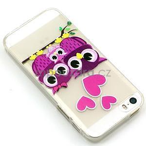 Fun gelový obal na iPhone 5s a iPhone 5 - soví rodinka - 2