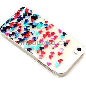 Fun gelový obal na iPhone 5s a iPhone 5 - srdíčka - 2
