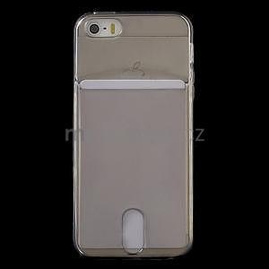 Ultra tenký obal s kapsičkou pro iPhone 5 a 5s - šedý - 2