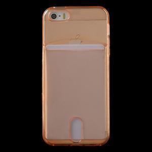 Ultra tenký obal s kapsičkou pro iPhone 5 a 5s - oranžový - 2
