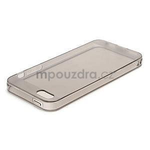 Gelový transparentní obal na iPhone 5 a 5s - šedý - 2