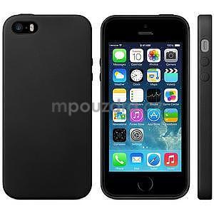 Gélový obal s textúrou na iPhone 5 a 5s - čierny - 2